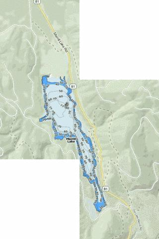 Merrill Lake Fishing Map - i-Boating App