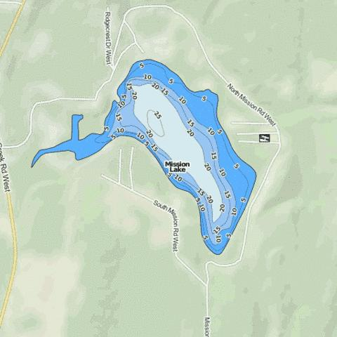 Mission Lake Fishing Map - i-Boating App