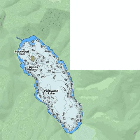 Packwood Lake Fishing Map - i-Boating App