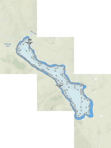Pearrygin Lake Fishing Map - i-Boating App
