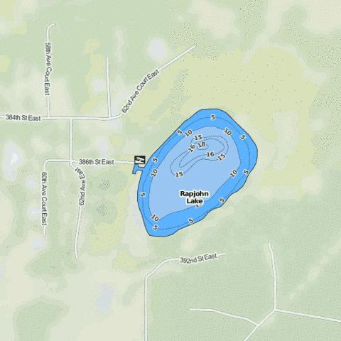Rapjohn Lake Fishing Map - i-Boating App
