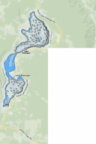 Lake Roesiger Fishing Map - i-Boating App