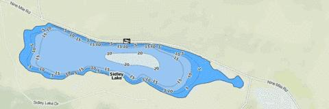 Sidley Lake Fishing Map - i-Boating App