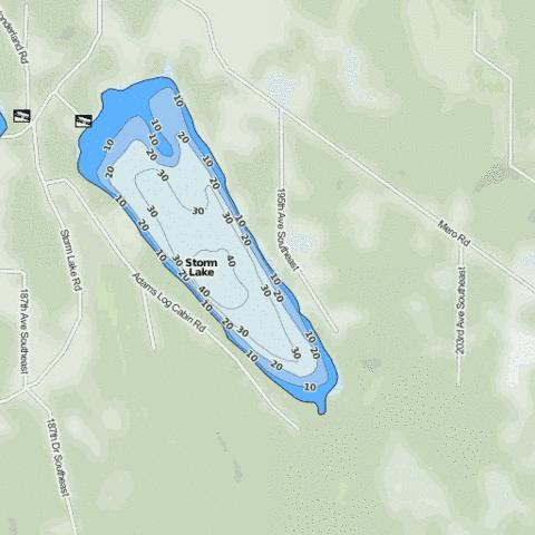 Storm Lake Fishing Map - i-Boating App