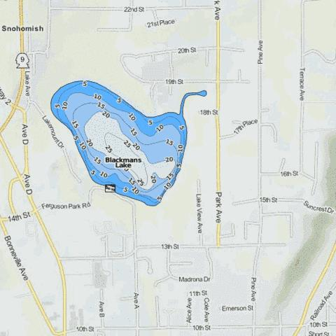Blackmans Lake (Fishing Map : US_WA_01530807) | Nautical Charts App