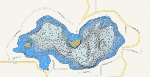 Winnebago fishing map lake winnebago co fishing hot spots for Crystal lake fishing