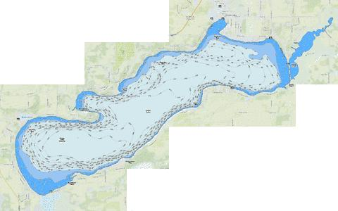 Green Lake (Fishing Map : US_WI_01565821) | Nautical Charts App