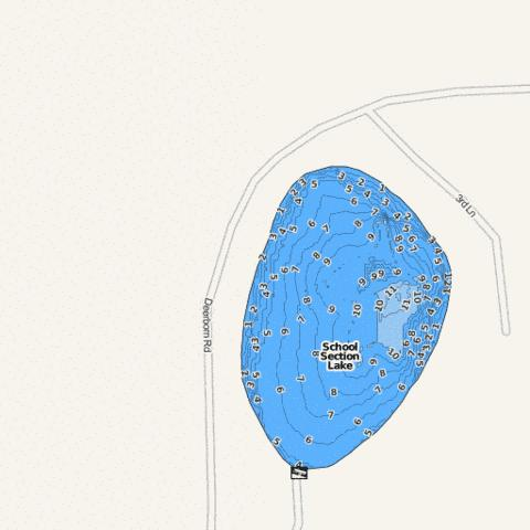 School Section Lake Fishing Map - i-Boating App