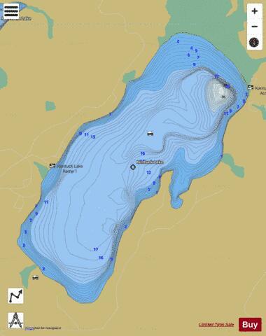 Kentuck Lake Fishing Map Us Wi 01579576 Nautical