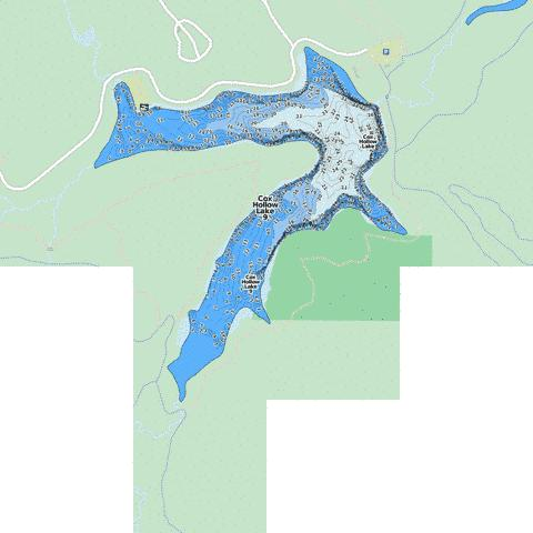Cox Hollow Lake 9 ( Map : US_WI_01791685) | Nautical Charts App on
