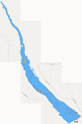 Forestville Flowage 40 Fishing Map - i-Boating App
