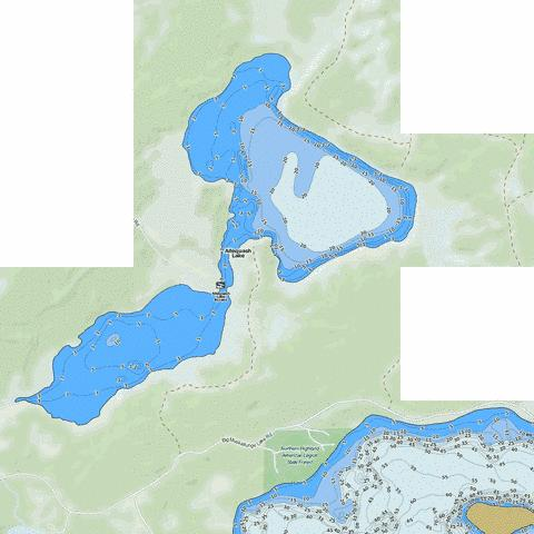 Allequash Lake Fishing Map - i-Boating App