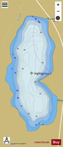 Sparkling Lake Fishing Map - i-Boating App