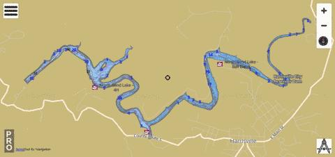 North Bend Fishing Map - i-Boating App