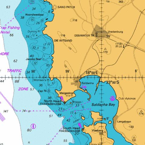 Saldanha Bay Marine Chart - Nautical Charts App