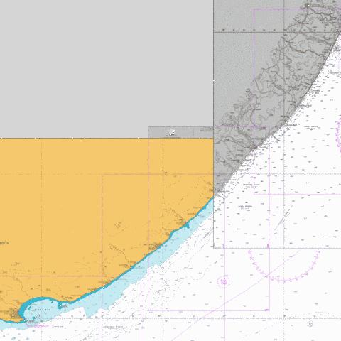 East London to Port S Johns Marine Chart - Nautical Charts App