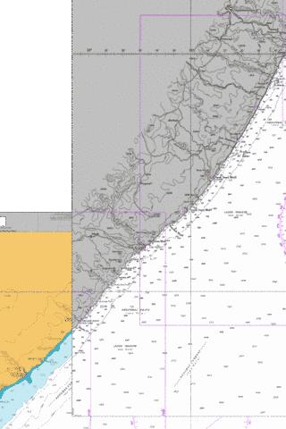 Port S Johns to Port Shepstone Marine Chart - Nautical Charts App