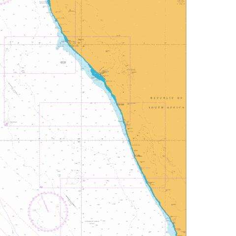 Chamais Bay to Port Nolloth Marine Chart - Nautical Charts App