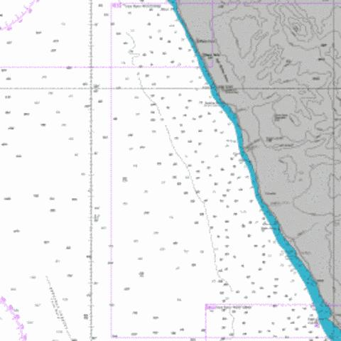 Sand Table Hill to Cape Cross Marine Chart - Nautical Charts App