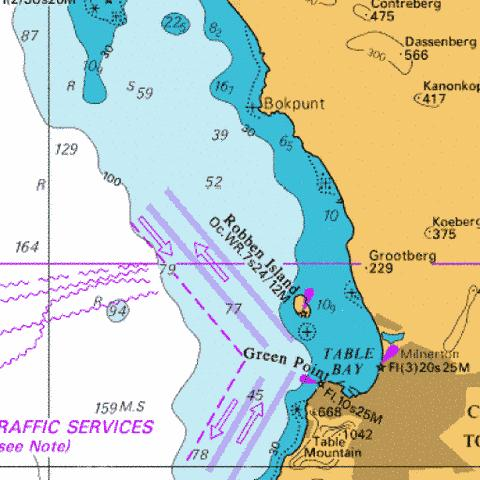 Approaches to Table Bay Marine Chart - Nautical Charts App