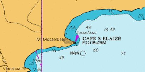 Approaches to Mossel Bay Marine Chart - Nautical Charts App