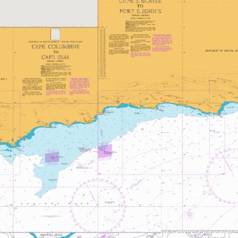 Cape St Blaize to Cape St Francis Marine Chart - Nautical Charts App