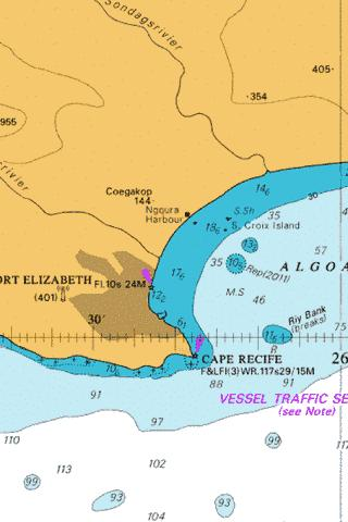 Approaches to Port Elizabeth Marine Chart - Nautical Charts App
