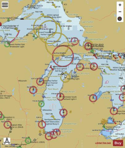 Michigan Fishing Maps Marine Chart - Nautical Charts App