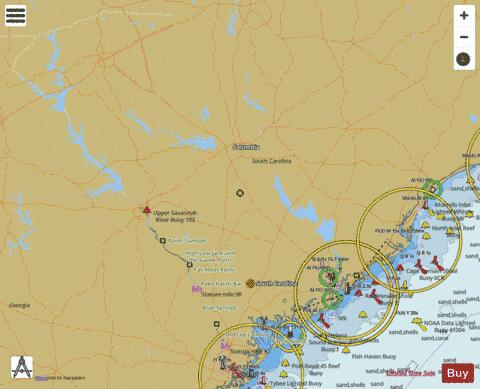South Carolina Fishing Maps Marine Chart - Nautical Charts App