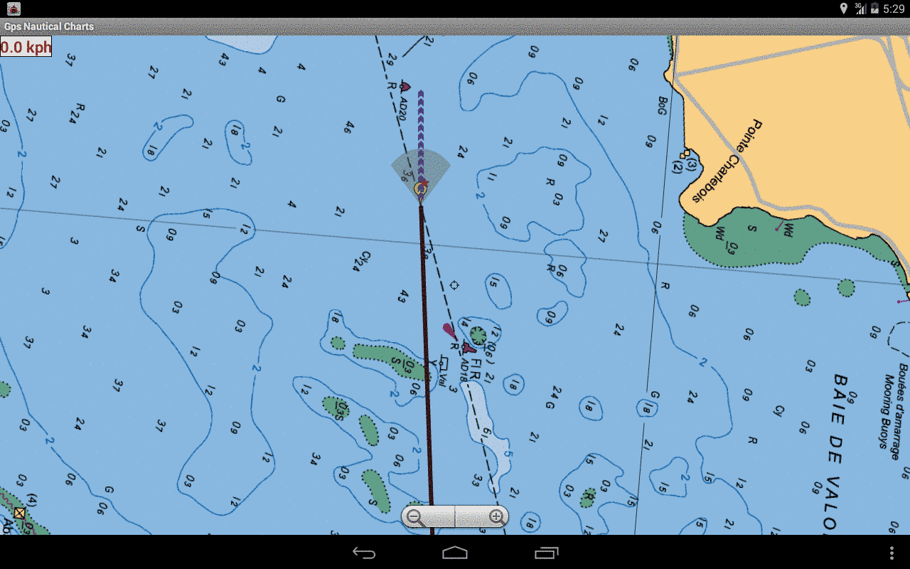 Blackberry Marine Navigation - Auto Follow With Real Time Track Overlay