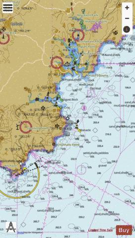 Approaches to Falmouth Marine Chart - Nautical Charts App