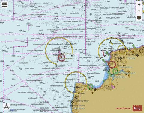 Hartland Point to Ilfracombe including Lundy Marine Chart - Nautical Charts App