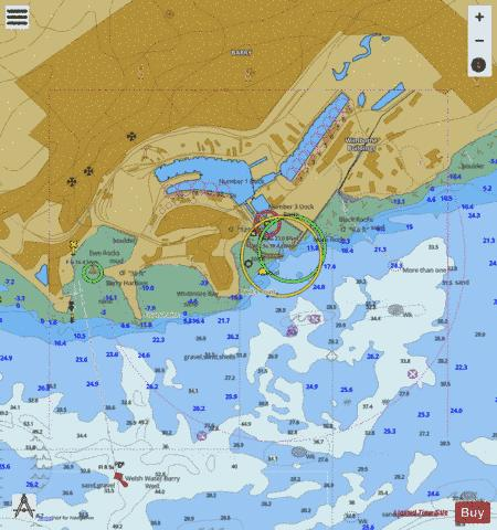 A Barry Docks Marine Chart - Nautical Charts App