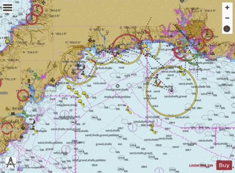 Falmouth To Plymouth Marine Chart Nautical Charts