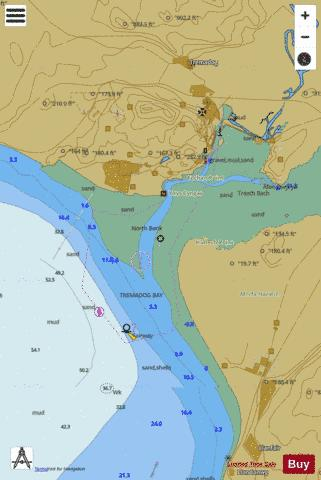C  Approaches to Porthmadog Marine Chart - Nautical Charts App