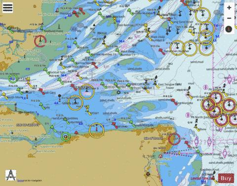Thames Estuary Southern Part Marine Chart - Nautical Charts App
