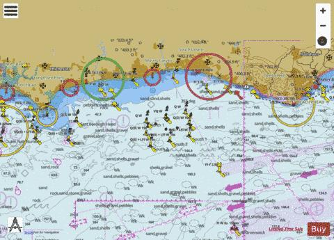 Selsey Bill to Beachy Head Marine Chart - Nautical Charts App