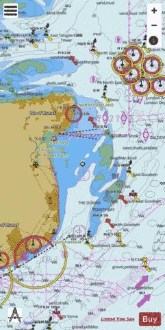 Dover to North Foreland Marine Chart - Nautical Charts App