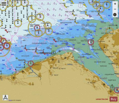 Approaches to the River Dee Marine Chart - Nautical Charts App