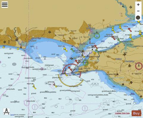 Western Approaches to The Solent Marine Chart - Nautical Charts App