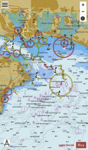 Eastern Approaches to the Solent Marine Chart - Nautical Charts App