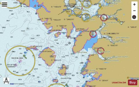 Mallaig to Canna Harbour Marine Chart - Nautical Charts App