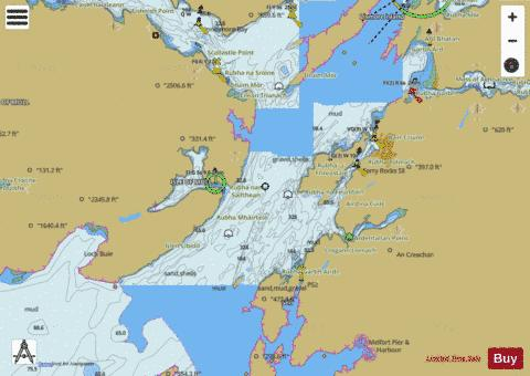 Firth of Lorn  Northern Part Marine Chart - Nautical Charts App