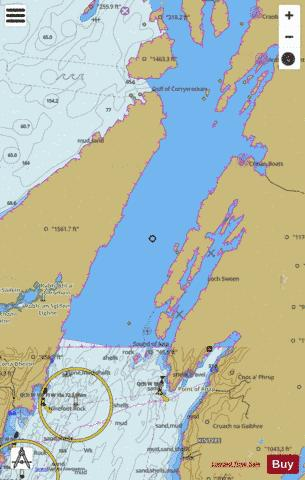 Sound of Jura  Northern Part Marine Chart - Nautical Charts App