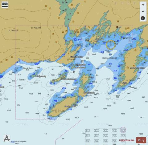 Sneem Harbour Marine Chart - Nautical Charts App