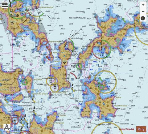 B  Sounds of Rapness, Faray, Eday and Sanday Marine Chart - Nautical Charts App