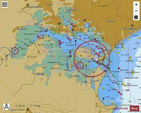 Poole Harbour and Approaches Marine Chart - Nautical Charts App