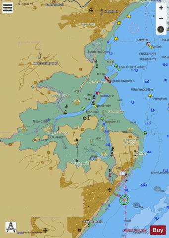 A Walton Backwaters Marine Chart - Nautical Charts App