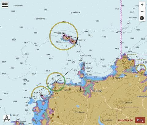 Bloody Foreland to Horn Head including Tory Island Marine Chart - Nautical Charts App