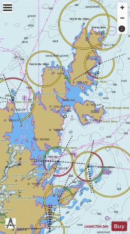 Eastern Approaches to Yell Sound Colgrave Sound and Bluemull Sound Marine Chart - Nautical Charts App